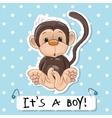 Cute Monkey boy vector image vector image