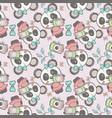cute panda cartoon seamless pattern vector image vector image