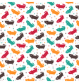 Cute seamless pattern with funny cats Cute vector image