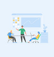 data analysis concept with characters business vector image vector image