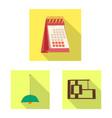 design furniture and work sign set of vector image
