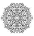 Doodle boho floral motif vector image vector image