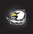 eagle head mascot logo design vector image vector image
