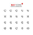 easy icons 30a contacts vector image vector image