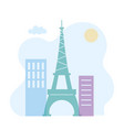 eiffel tower in paris skyline architecture urban vector image