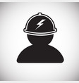 electrician on white background vector image