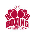 emblem for boxing champions vector image vector image