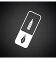 Eraser icon vector image vector image