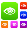 eye set collection vector image vector image