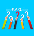faq ask or query concept flat style vector image