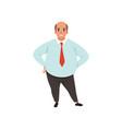 fat adult man with bald head cartoon male