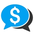 Financial Chat Icon vector image vector image