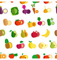 fruit and vegetables seamless pattern farm organic vector image vector image