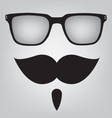Funny mask sunglasses and mustache vector image vector image