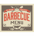 Genuine Southern Barbecue Menu Design vector image vector image