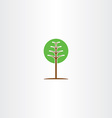 geometric green circle tree icon logo vector image