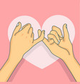 hand drawn pinky promise vector image vector image