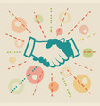 handshake concept business vector image vector image
