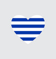 heart in colors of the uruguay flag vector image