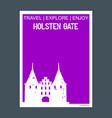 holsten gate lbeck germany monument landmark vector image vector image
