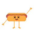 isolated dead hot dog emote vector image