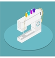 isometric flat of sewing vector image vector image