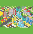 isometric urban modern city megalopolis view vector image