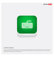 keyboard icon green web button vector image