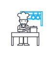kitchen staff linear icon concept kitchen staff vector image vector image