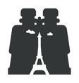 looking through binoculars Paris vector image vector image