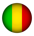 Mali flag button vector image vector image