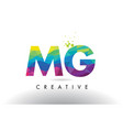 mg m g colorful letter origami triangles design vector image vector image