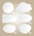 Paper Bubbles Speech Idea on Background vector image vector image