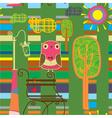 park pattern background vector image