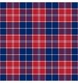 patriotic tartan white blue red seamless vector image vector image