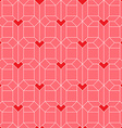 Pattern with Isometric hearts Valentines day vector image vector image