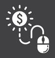 pay per click glyph icon seo and development vector image vector image
