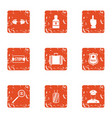 procession icons set grunge style vector image vector image