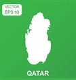 qatar map icon business concept qatar pictogram vector image vector image