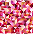 seamless geometric triangle red pattern vector image vector image