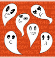set 6 spooky ghosts png vector image vector image