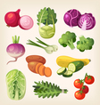 set colorful vegetables vector image vector image