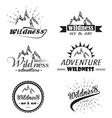 set of wilderness and nature exploration vector image