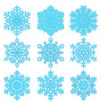 snowflakes collection isolated on light background vector image