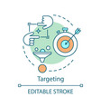 targeting concept icon sales conversions icon vector image vector image