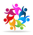 teamwork dynamic people friends icon vector image