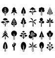 tree icon set 1 vector image