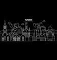 tumen silhouette skyline russia - tumen vector image vector image