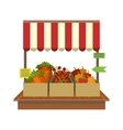 Vegetables On Market Display vector image vector image