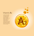 vitamin a2 baner with images golden balls vector image